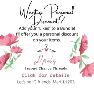 Personal Discount 😃 use the Shopping 🛍 icon